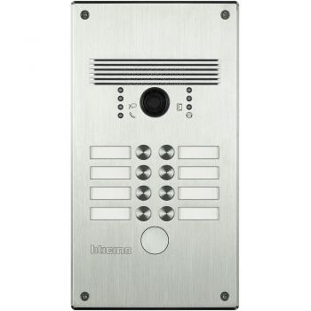 Bticino Videointerfonie 2 Fire Pulsantiera antivandalo 5-8 pb inox 308012