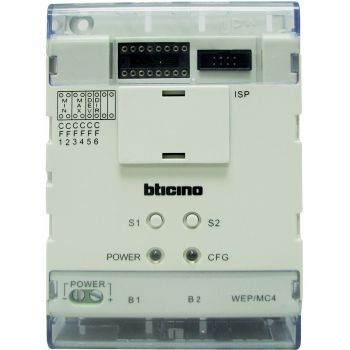 Bticino Videointerfonie cu RJ45 Interfataace for more switchboard on a riser 323018