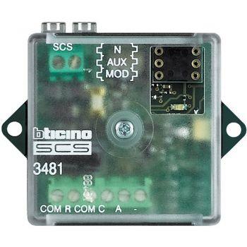 Bticino My Home Alarm System Modul Interfata per ricevere segnali allarmi provenienti da sensori allarmi tecnici  3481