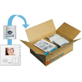 Bticino Kit Videointerfonie 2 Fire Kit video- 2 FILI - a colori espandibile con videocitofono mani libere CLASSE 100 V12B e pulsantiera A-V SFERA NEW 366511