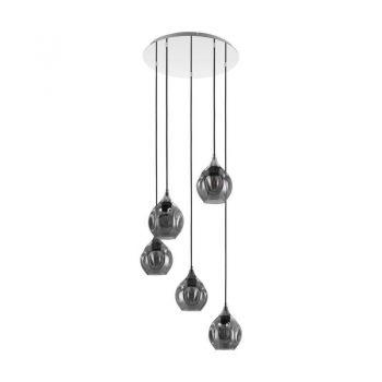 Corpuri iluminat Crystal Design Hl-5 E27 Chrom-Sw-Transp-'Bregala' Eglo 39682