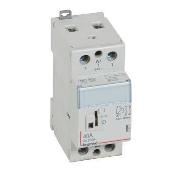 Contactor Cx3 Ct 24V 2F 40A Manette Legrand 412515