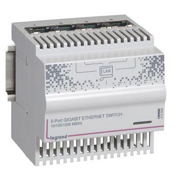 Componente Multimedia Active Switch Modular 5 P-Gigabit Legrand 413009