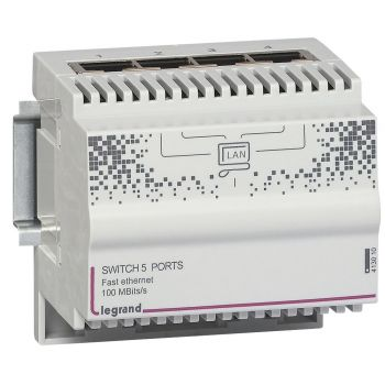 Componente Multimedia Active Switch 5 Ports 100 Mbits Legrand 413010