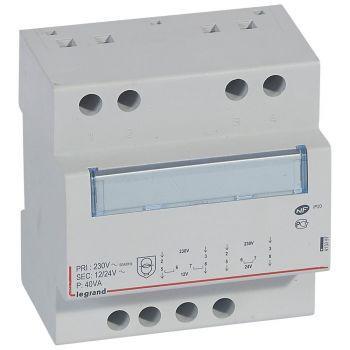 Transformator Modular Transfo De Securite 12-24 40Va Legrand 413097