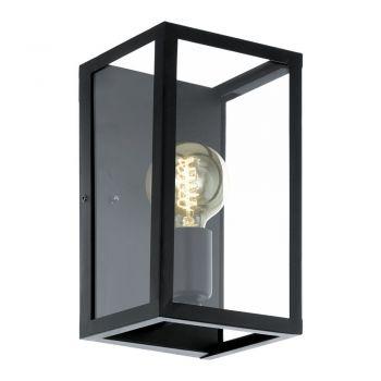 Iluminat Vintage Aplica 1 Bec Negru-Clar 'Charterhouse' Eglo 49394