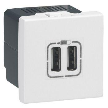 Legrand Arteor 2Usb 2400 Charge Socket Squ Wh Legrand 572078