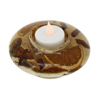 Corpuri de iluminat Led-Schale M-Teelichtaufnahme Amber Eglo 75169