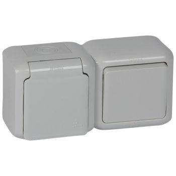 Legrand Forix Ip44 Switch 2W-Plus-2P-Plus-E F-B Socket Grey Legrand 782396