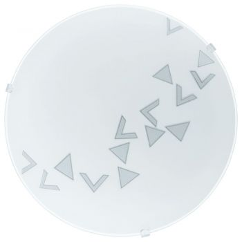 Aplice iluminat Aplica - Plafoniera 1 Bec E27 Sticla Dec Eglo 80263