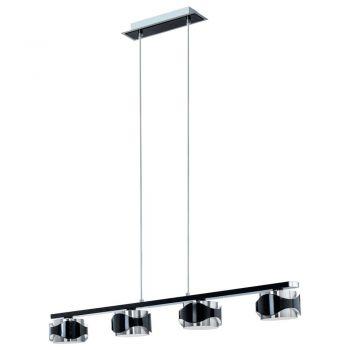 Corpuri de iluminat moderne Pendul-Lustra 4X40W Nich-Negru-Briliant'Catwalk' Eglo 88273