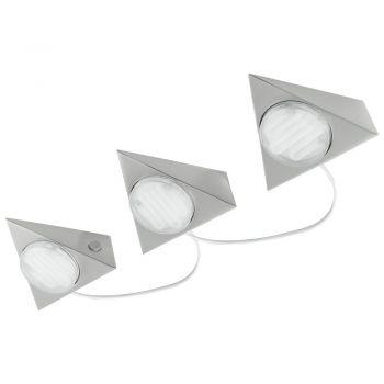 Corpuri de iluminat Bucatarie Set 3X7W 2Gx53 Triunghi Nichel 'Kob 1' Eglo 89607