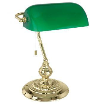 Corpuri de iluminat birou Veioza 1 Bec E27 Auriu-Abajur Verde 'Ban Eglo 90967