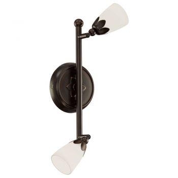 Spoturi iluminat Sina-2X40W Brun-Alb 'Daniele' Eglo 91428