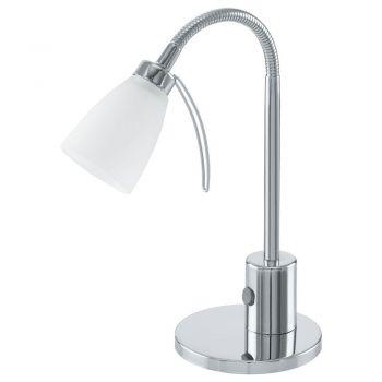 Corpuri de iluminat birou Veioza 1 Bec G9 Cu Intrerupator Crom-Alb Eglo 91465