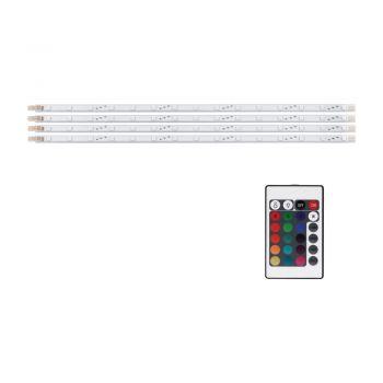 Banda LED EGLO 92048 - RGB 4X3W (4X15 LED) 167lm - Alb