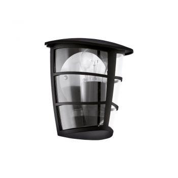 Corpuri de iluminat exterior Aplica 1 Bec E27 Negru 'Aloria' Eglo 93407