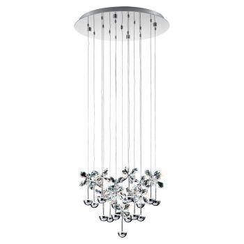 Corpuri iluminat Crystal Design Lustra Led Crom-Cristal 'PianoPoli- Eglo 93662
