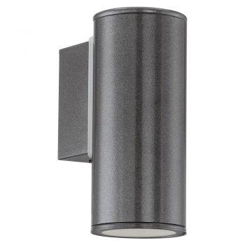 Corpuri de iluminat exterior Aplica Aluminiu 1 Bec Gu10 Led Negru 'Ri Eglo 94102