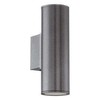 Corpuri de iluminat exterior Aplica Aluminiu 2 Becuri Gu10 Led Negru Eglo 94103
