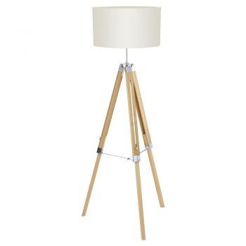Iluminat Vintage Lampadar 1 Bec E27 Natur-Crom-Bej 'Lanta Eglo 94324