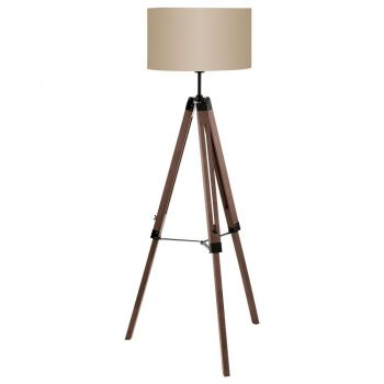 Iluminat Vintage Lampadar 1 Bec E27 Nuc-Negru-Gri 'Lantad Eglo 94326