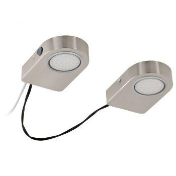 Corpuri de iluminat Bucatarie Set 2 Spoturi Led Aplicate Nichel Mat 'L Eglo 94514