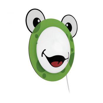 Aplica pentru copii EGLO QUIXI 95745 - E27 1X60W - Lemn - Verde
