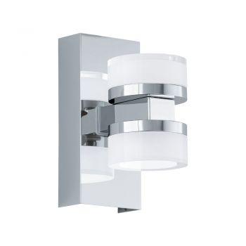 Aplica baie EGLO ROMENDO 1 96541 - LED 2X7.2W 1140lm 3000K IP44 - Otel - Transparent - Satinat
