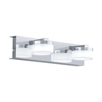 Aplica baie EGLO ROMENDO 1 96542 - LED 2X7.2W 1140lm 3000K IP44 - Otel - Satinat - Transparent