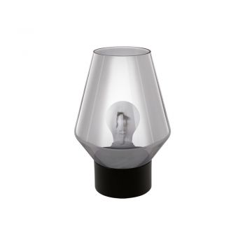 Veioze Tl-1 E27 Schwarz-Rauchglas 'Vereli' Eglo 97635