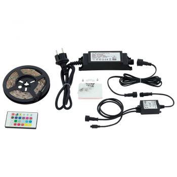 KIT banda LED dimabila cu telecomanda EGLO FLEX 97929 - RGB TW 10W 600lm 3000K IP44 - 2000mm