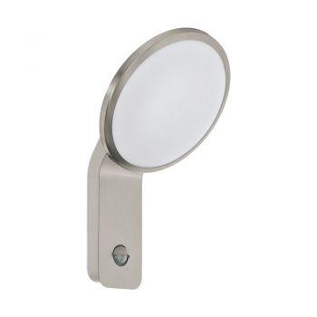 Aplica exterior EGLO CICERONE 98128 - LED 11W 1000lm 3000K IP44 - Plastic - Inox - Alb