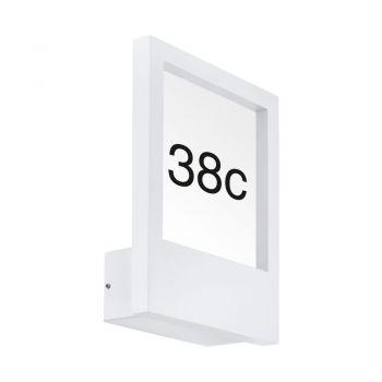 Aplica exterior EGLO MONTEROS 98143 - E27 1X28W IP44 - Plastic - Sticla - Alb