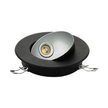 Spoturi iluminat Led-Einbauspot Schwarz-Silber 'Ronzano 1 Eglo 98522