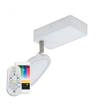 Aplica inteligenta EGLO PALOMBARE-C 97691 - LED RGB 1X5W 600lm 2700-6500K - Plastic - Aluminiu - Otel - Alb