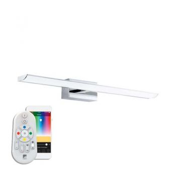 Aplica inteligenta baie EGLO TABIANO-C 98451 - LED RGB 15.6W 2000lm 2700-6500K IP44 - Otel - Alb