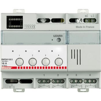 Bticino KNX Actuator ON-OFF 4x16A 6DIN 230V BMSW1003