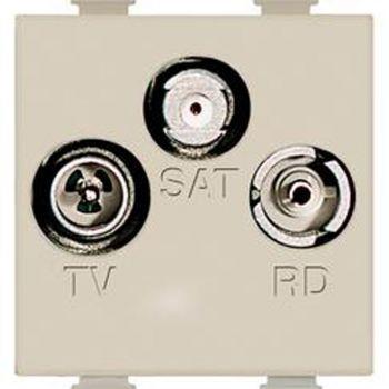 Bticino Matix Ivoar TV-R-SAT diretta demix 2M avor A5210M2D