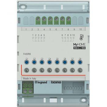 Bticino My Home Control Termperatura Attuatore DIN 8 uscite bus F430R8