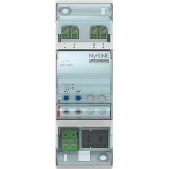 Bticino My Home Control Termperatura Attuatore DIN 2 uscite 0-10V bus F430V10