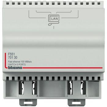 Bticino My Home Accesorii Switch 10-100 Mbs - 5 porte per la derivazione di 1 linea LAN in 4 linee F551