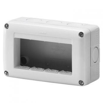 Doza Aparataj aparenta 4M 4X1 Modul Horiz-Enclosure Ip40 Gewiss GW27004