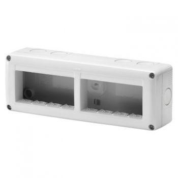 Doza Aparataj aparenta Horiz-8 2X4 Modul Enclosure Ip40 Gewiss GW27006