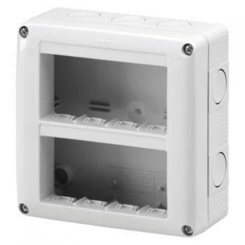 Doza Aparataj aparenta Vert-8 2X4 Modul Enclosure Ip40 Gewiss GW27023
