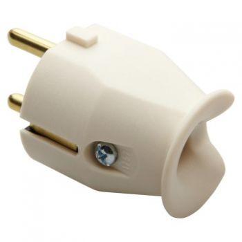 Stecher cupla 10-16A 2P plus E 250V Plug-Alb Gewiss GW28011