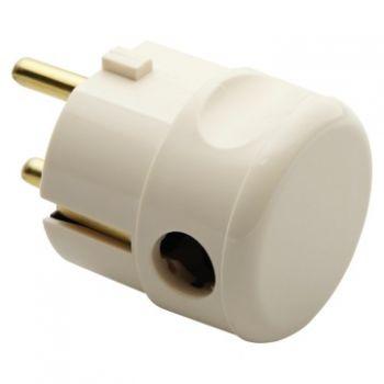 Stecher cupla 10-16A 2P plus E 250V 90 Grade-Angled Plug Alb Gewiss GW28012