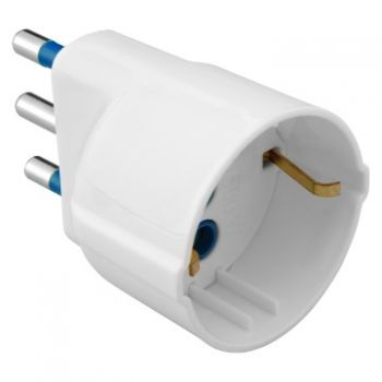 Stecher cupla 10A 2P plus E Adaptor W-1 Unel Outlet Alb Gewiss GW28409