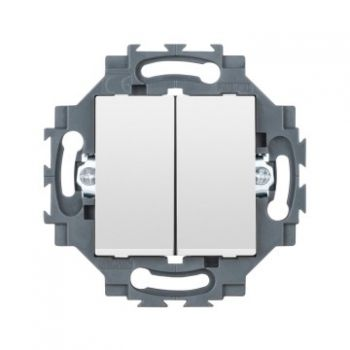 Gewiss Dahlia Dublu Intrerupator Fast Conn-1P 10Ax Wh Gewiss GW35051W