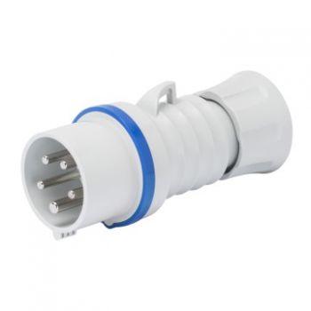 Fisa-stecher industrial Plug Hp Ip44 3P plus E 32A 230V 9H Inver-Gewiss GW60016WH